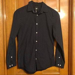 H&M polka dot dress shirt